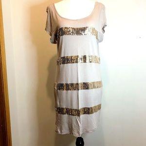Kische Sequin T-Shirt Mini Dress